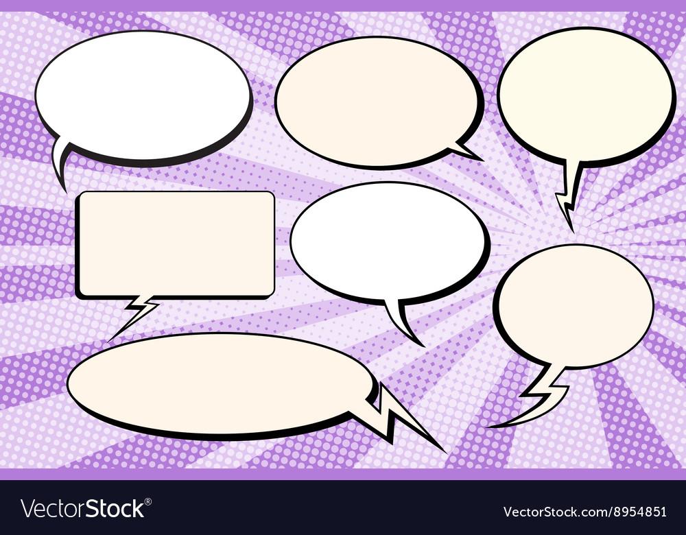 Set of bubbles comic text vector image