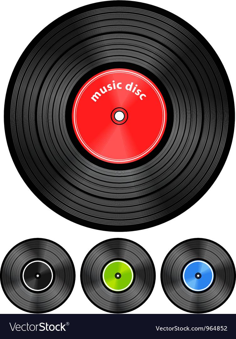 Vinyl audio discs set vector image