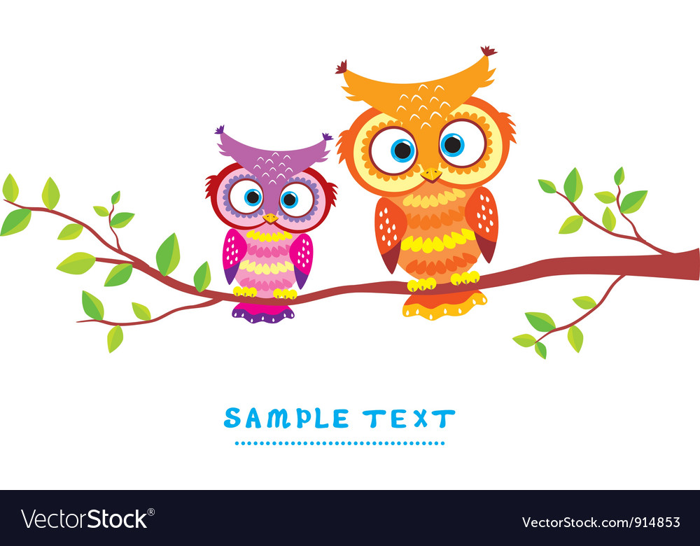Bird couple vector image