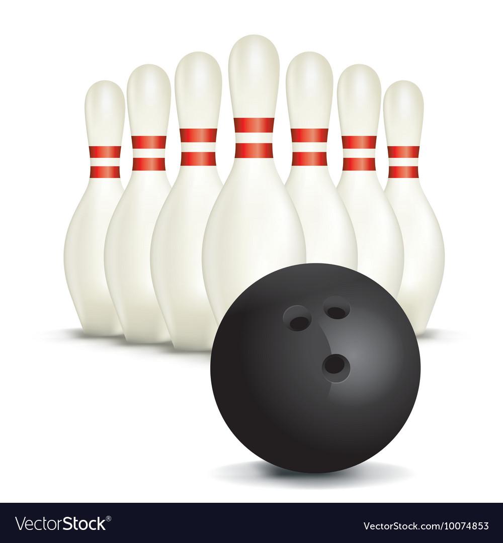Bowling Pins Ball vector image