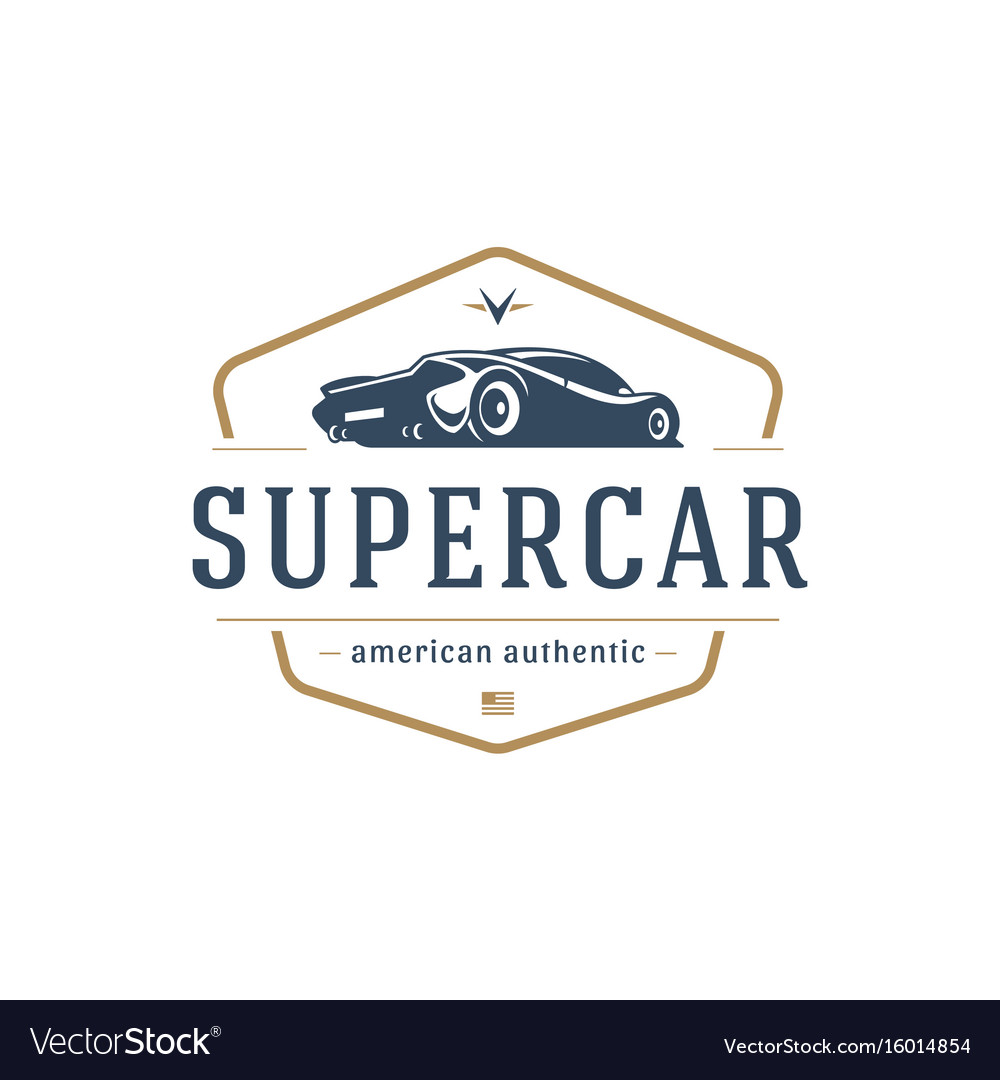 Sport car car logo template design element vector image