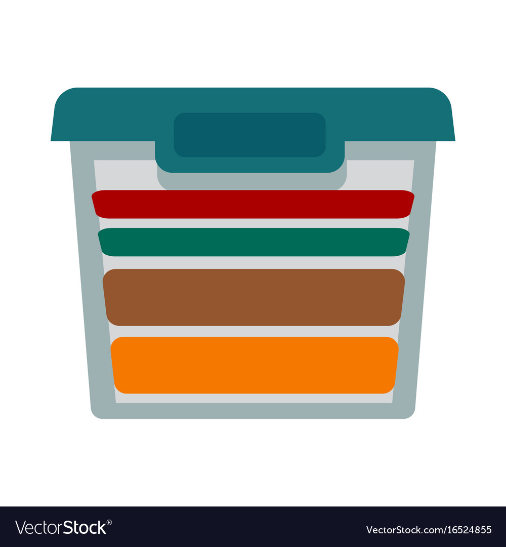 Container with different textile vector image