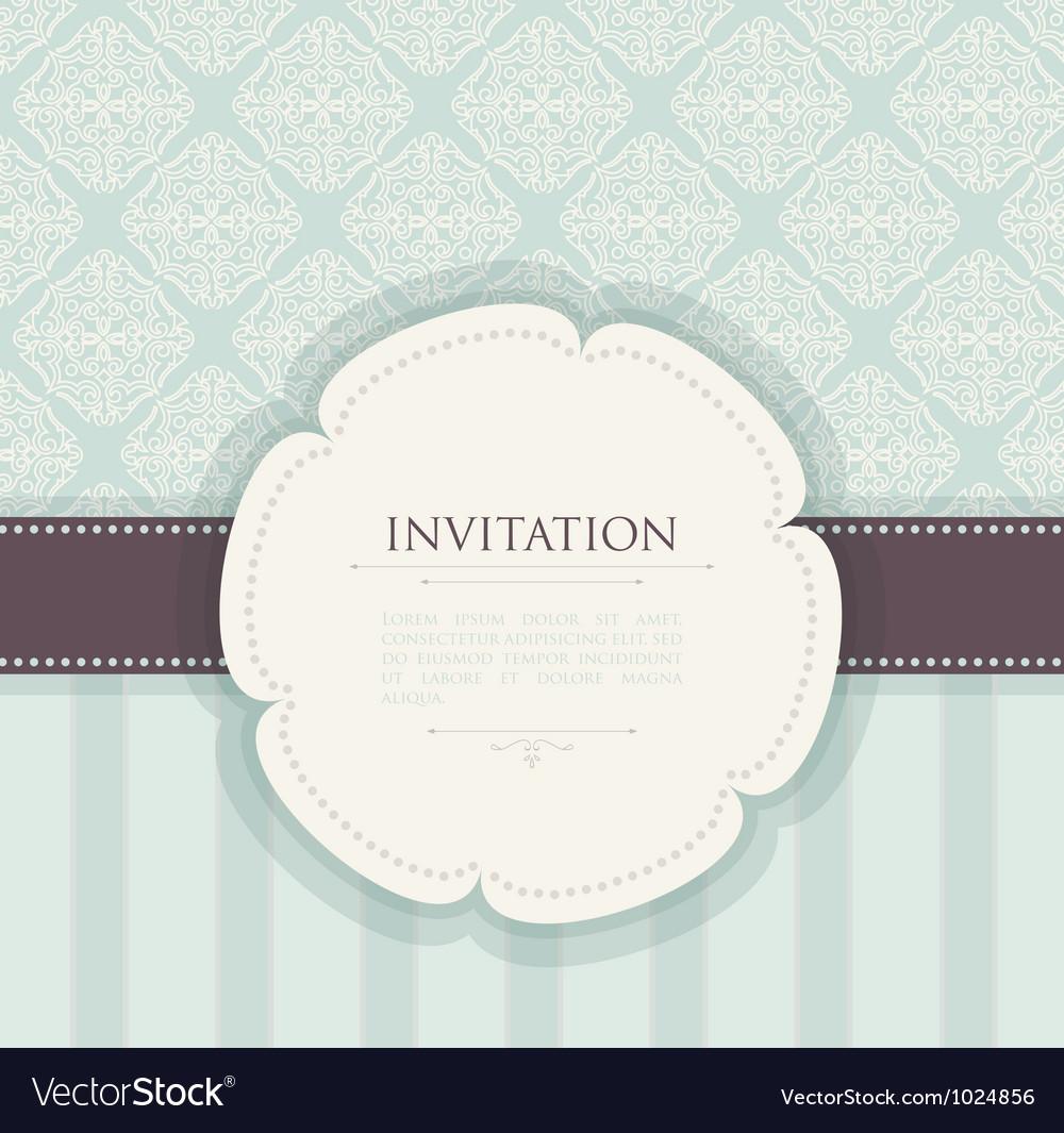 Invitation back vector image