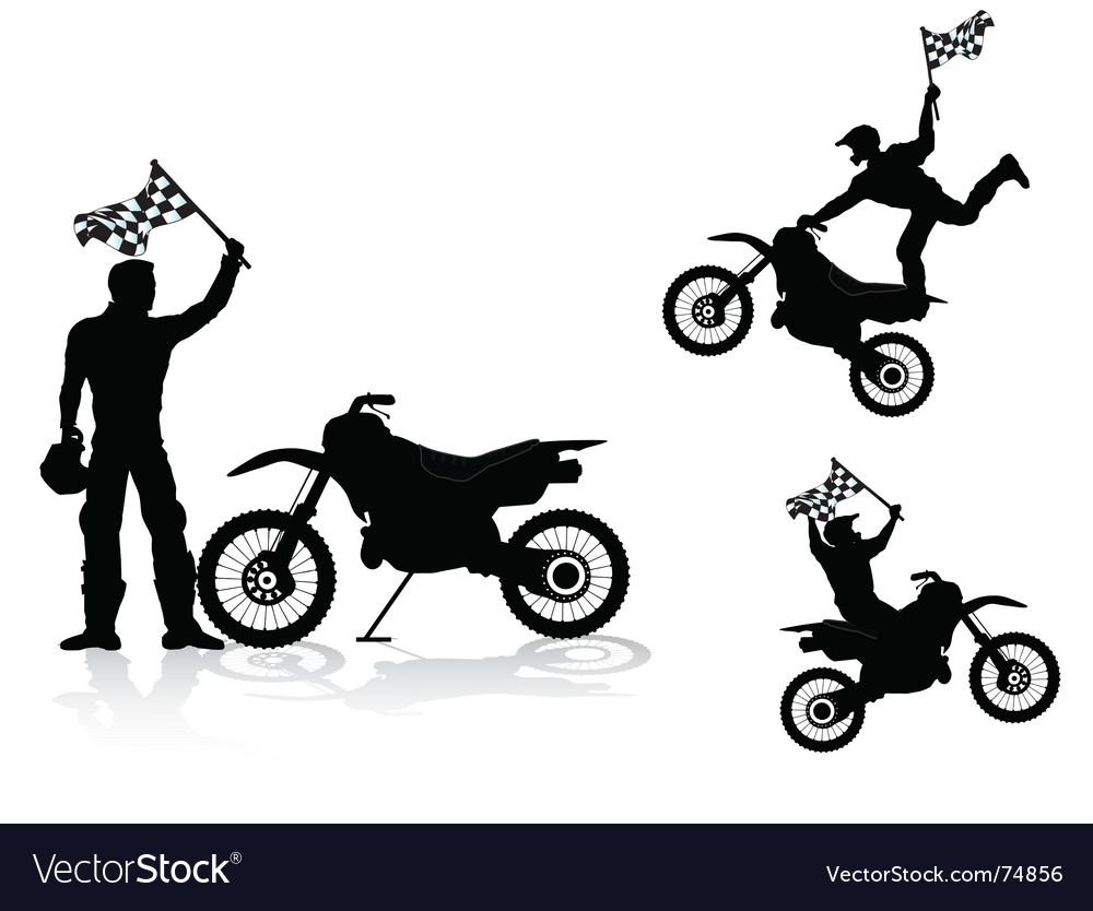 Motocross rider Vector Image