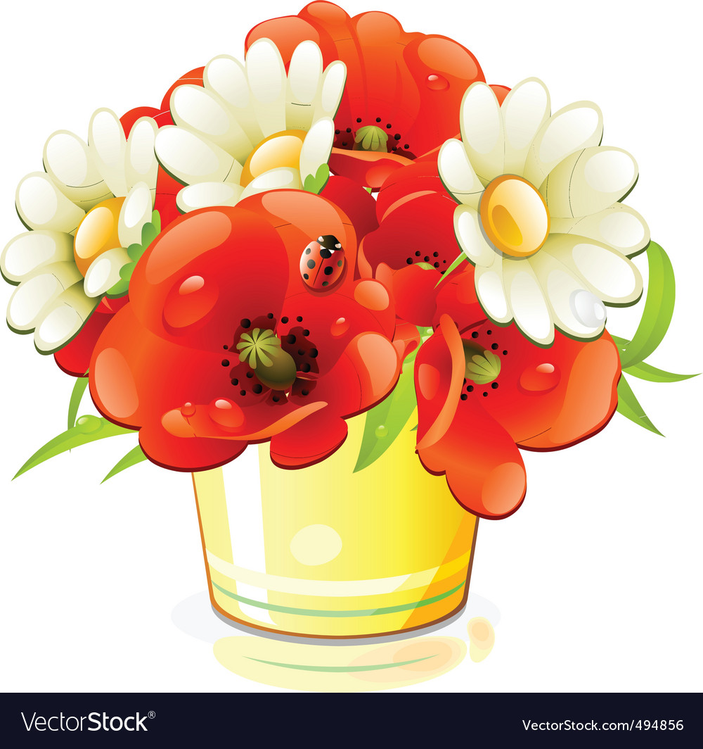Bunch of flowers vector image