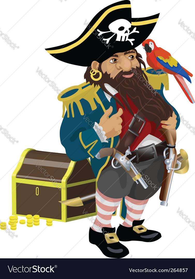 Pirate illustration vector image