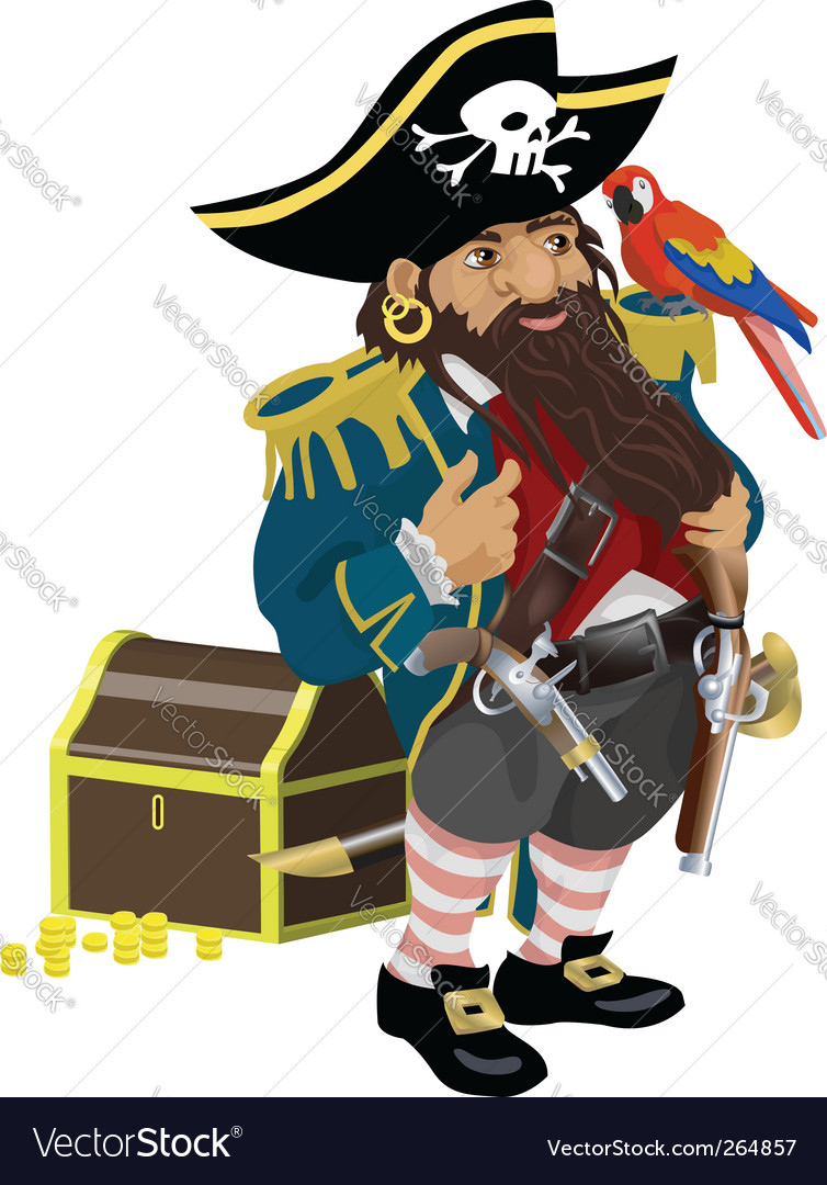 Pirate illustration vector image
