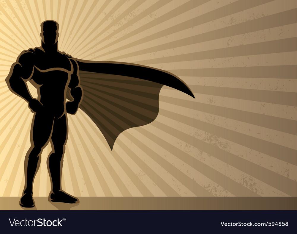 Superhero background vector image