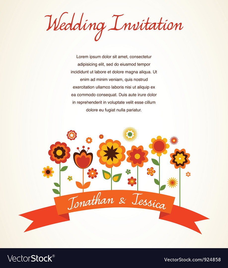 Greeting card invitation Royalty Free Vector Image – Greeting Card Invitation