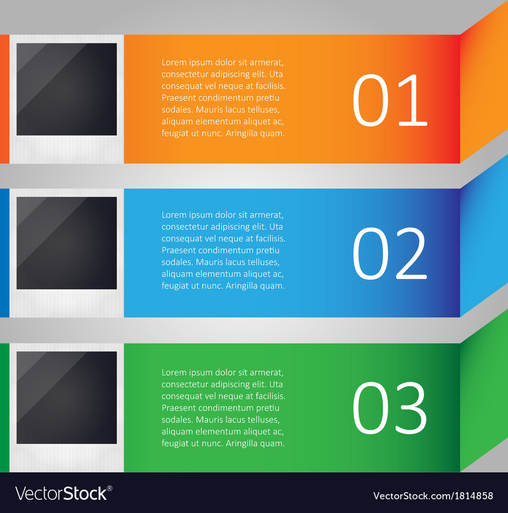 Modern infographic with images vector image