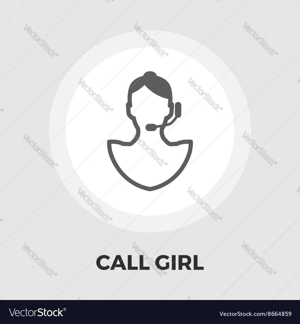 Call girl flat icon vector image