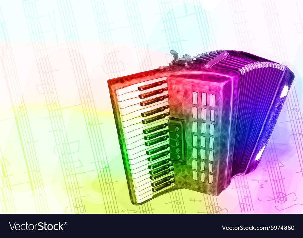 Accordion Iridescen colours vector image