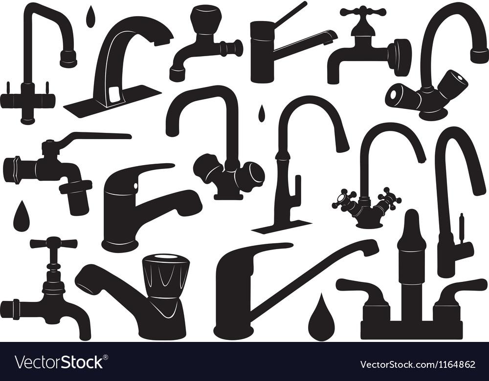 Faucet set Vector Image