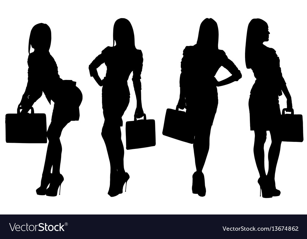 Images silhouettes of sexy girls vector image