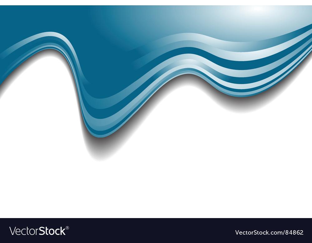 Wavy line header vector image