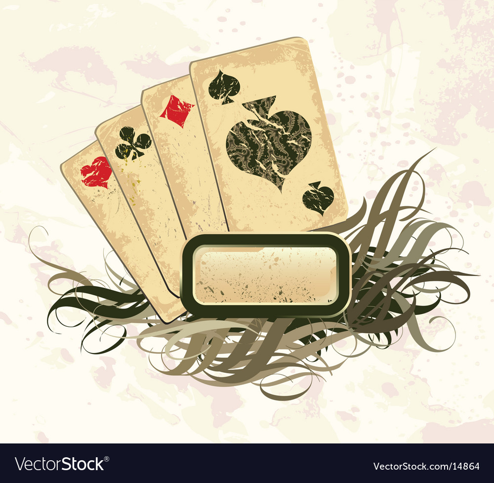 Set of playing cards vector image