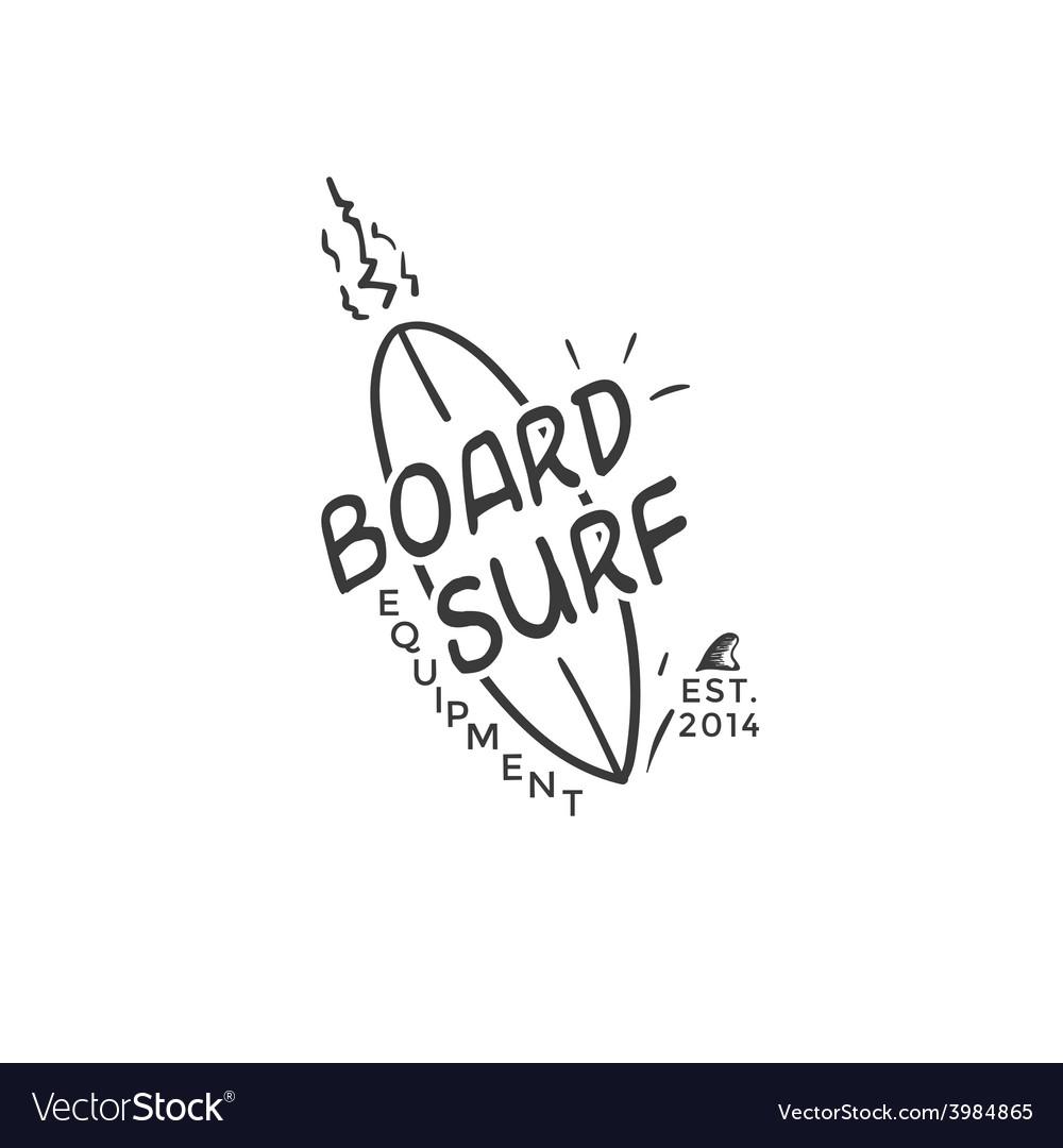 Surf logo vector image