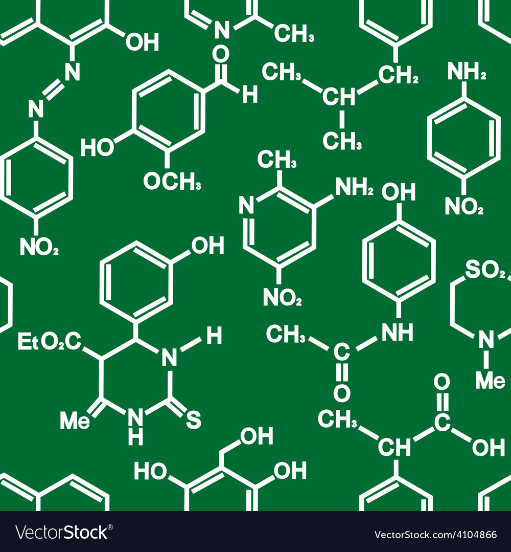 Organic chemistry structural formula pattern vector image ccuart Images
