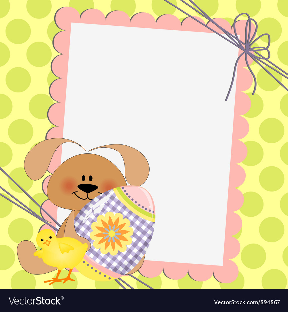 Cute template for Easter postcard Royalty Free Vector Image – Sample Easter Postcard Template