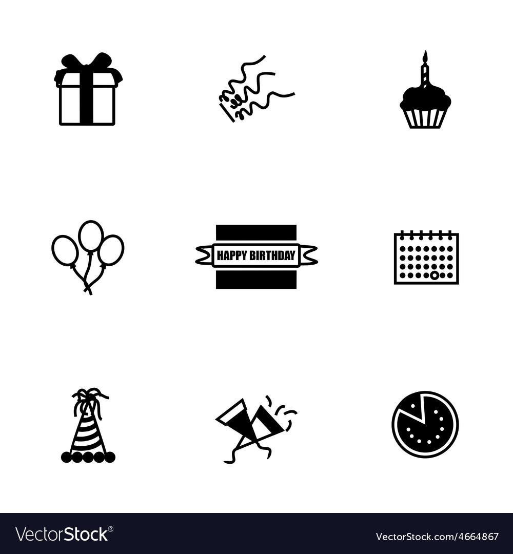 Birthaday icon set vector image