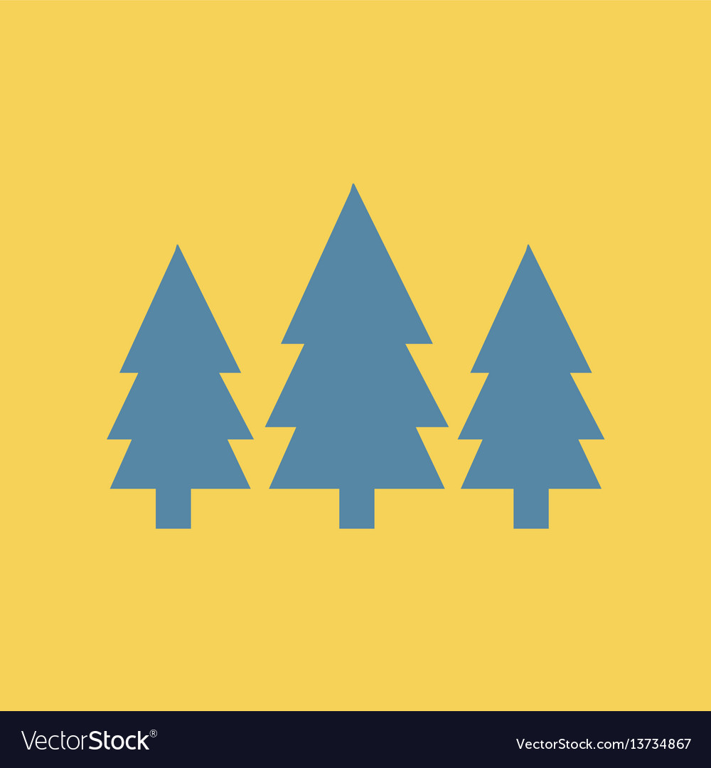 fir trees seamless landscape