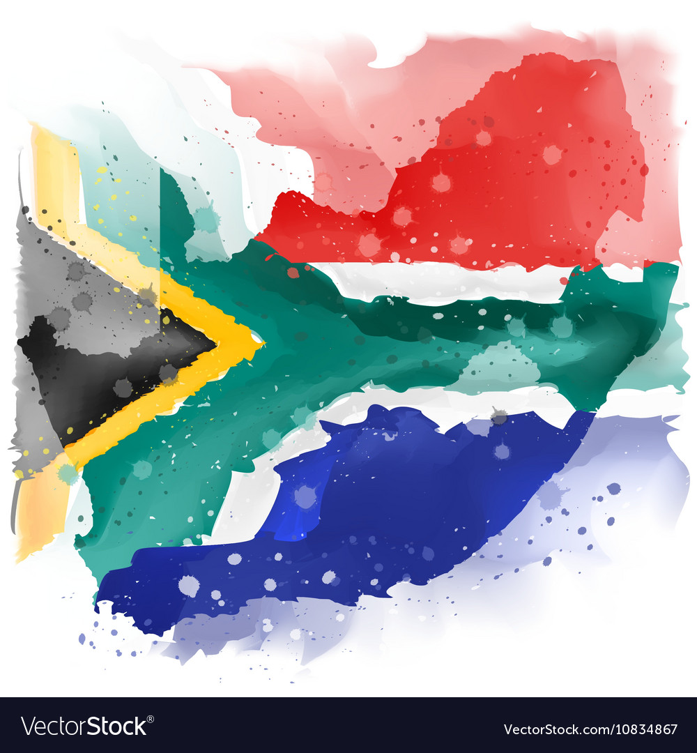 Map Of South Africa Watercolor Paint Royalty Free Vector - South africa map