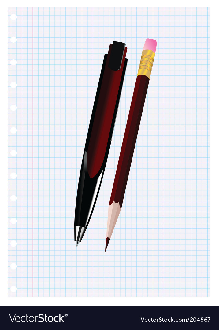 Stationery vector image
