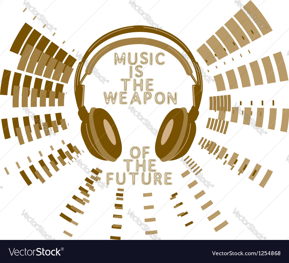 Music slogan print vector image