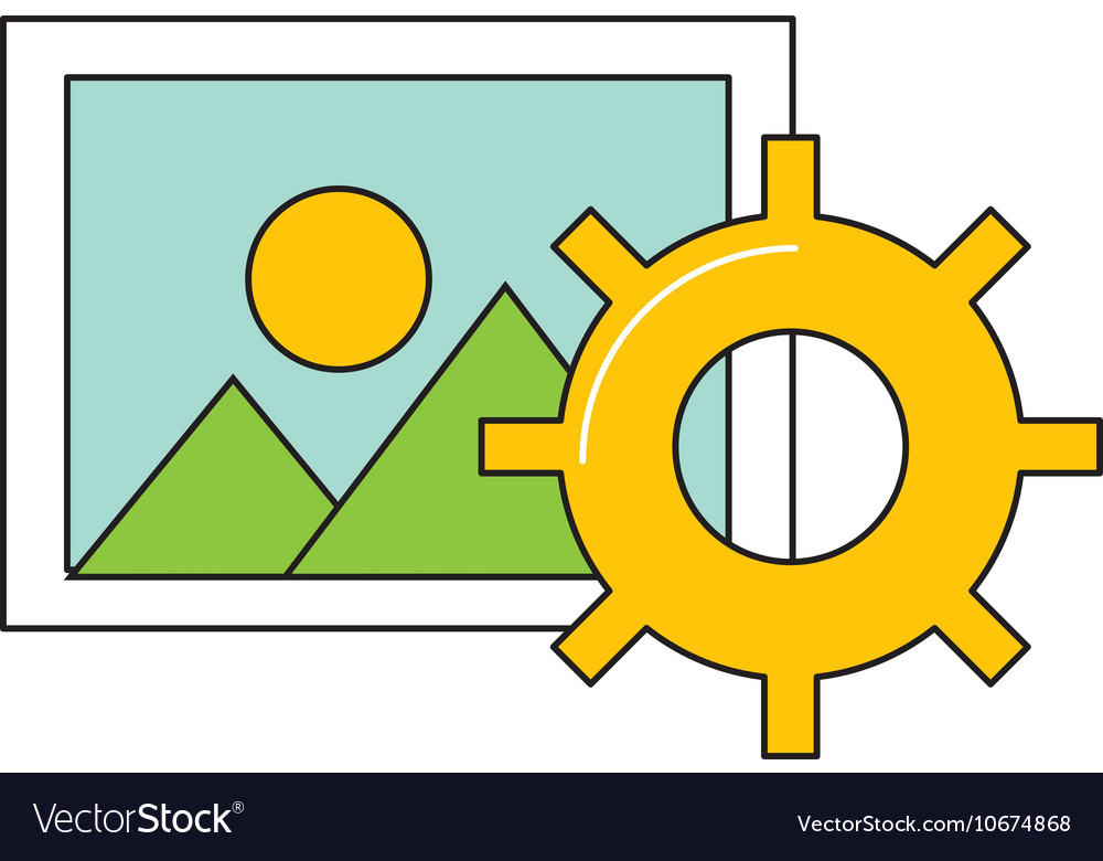 Picture file with social media icon vector image