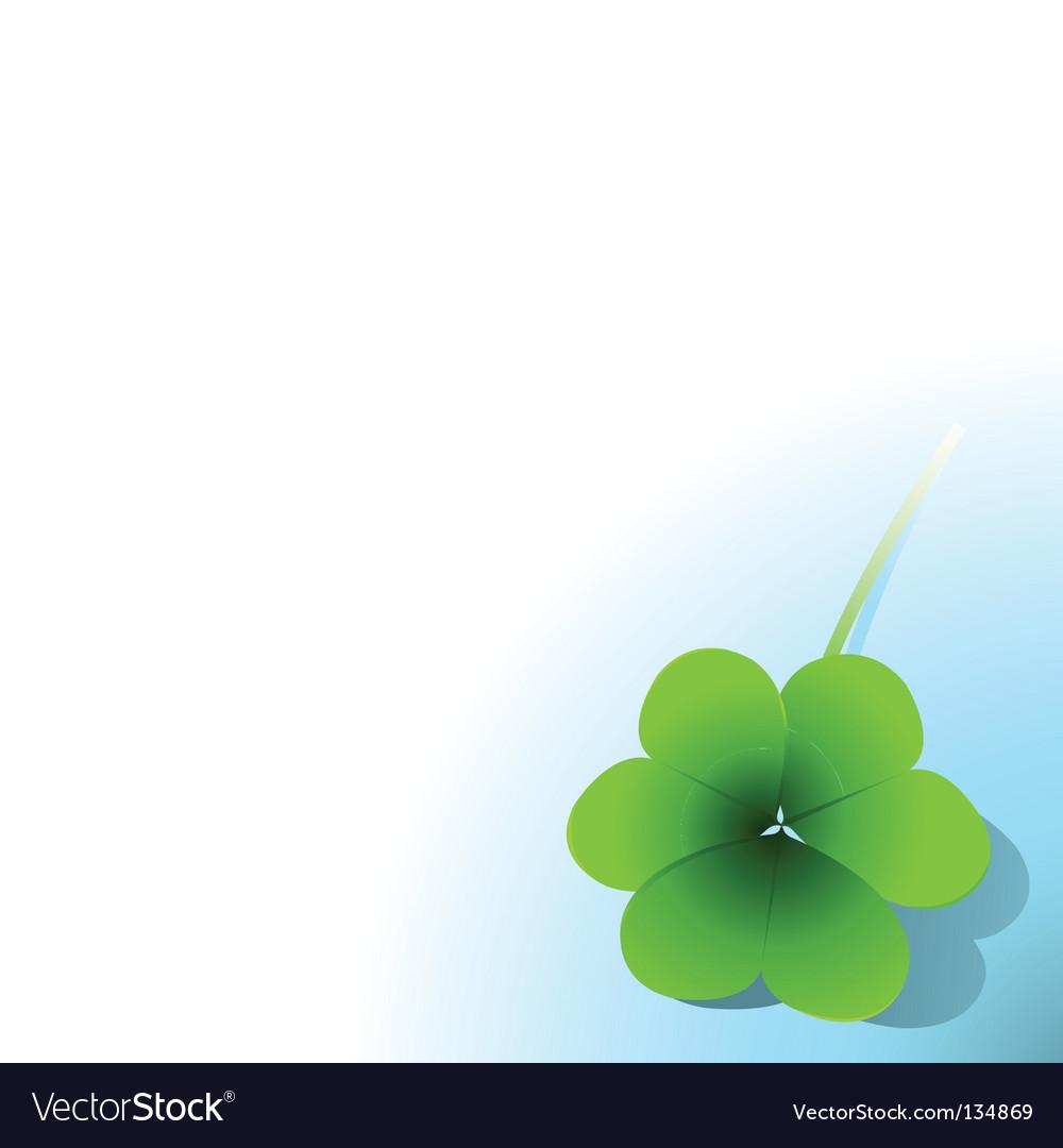 Green clover vector image