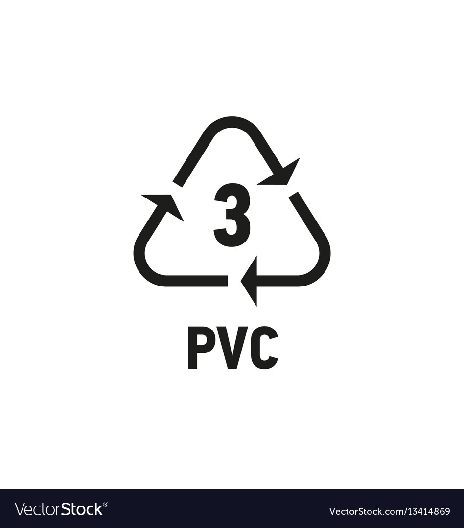 Plastic recycling symbol isolated on white vector image