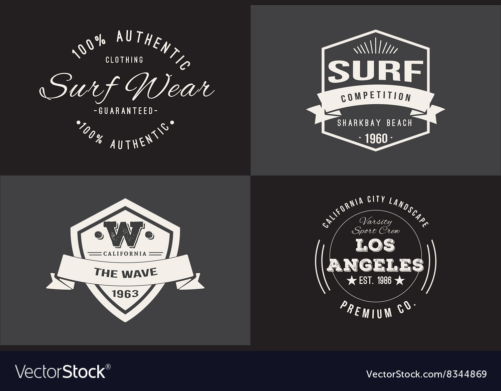 Typography t-shirt design set vector image