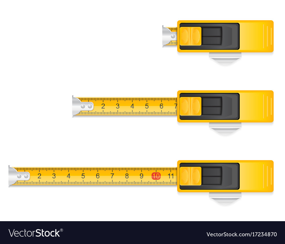 Measuring tape stock vector image