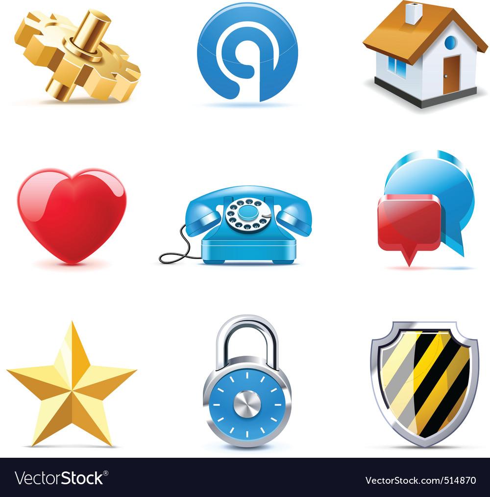 Web icons | bella series vector image