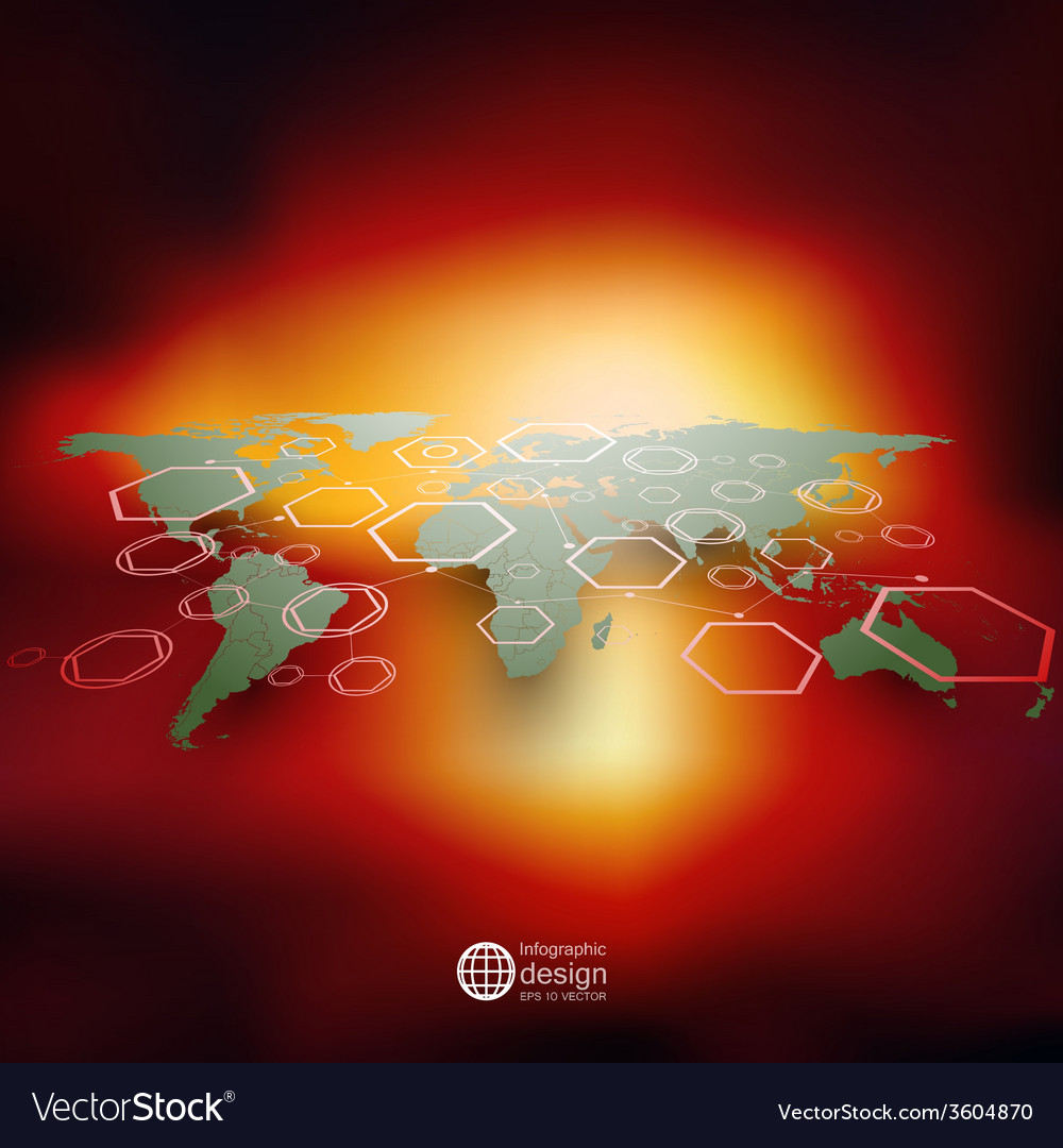 World map in perspective blurred infographic vector image gumiabroncs Images
