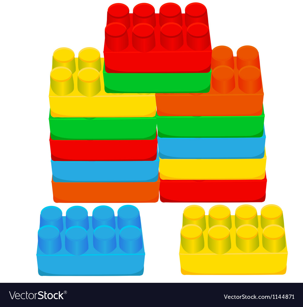 Lego blocks Vector Image