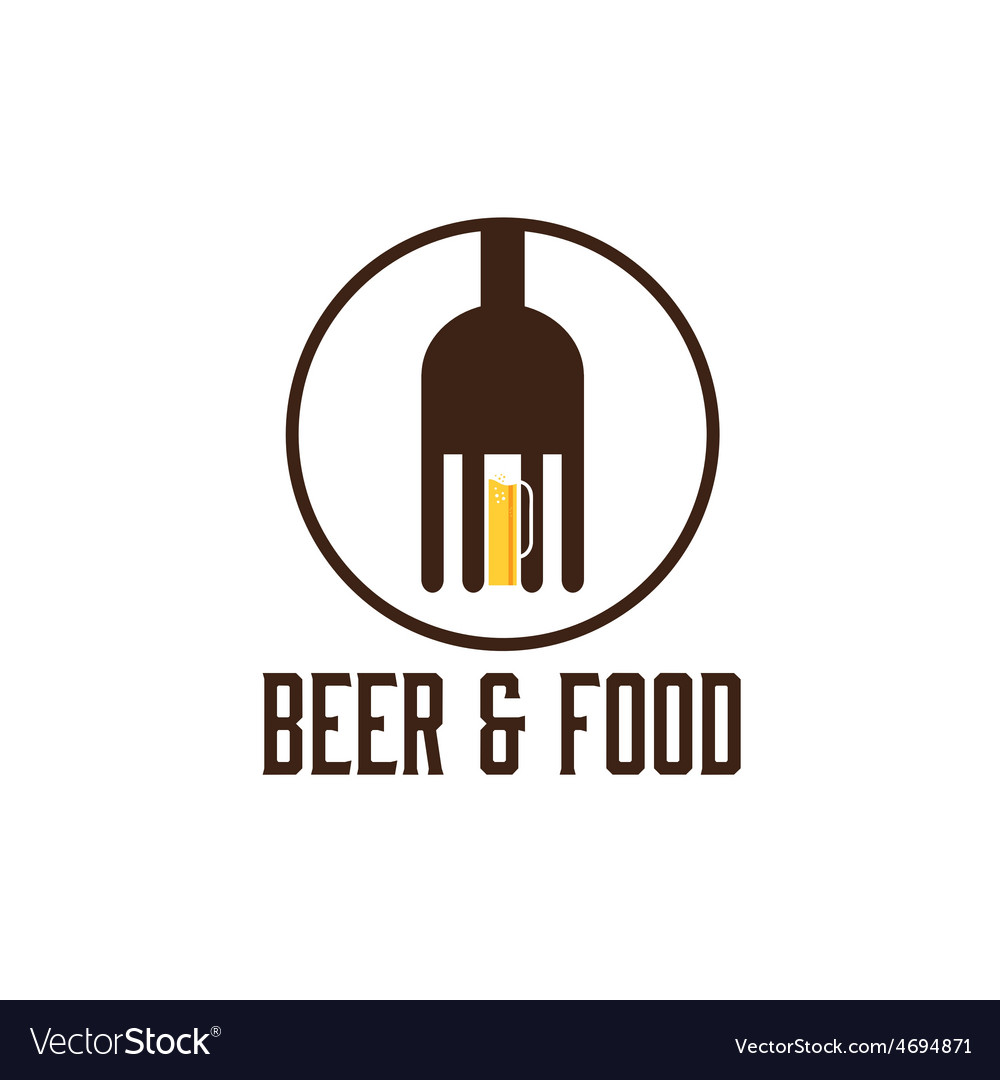 Food and beer design template vector image