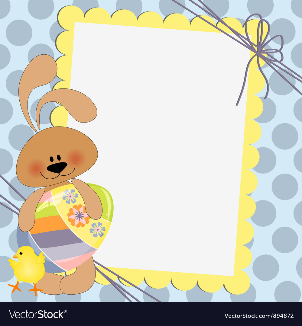 Cute template for Easter postcard Royalty Free Vector Image – Easter Postcard Template
