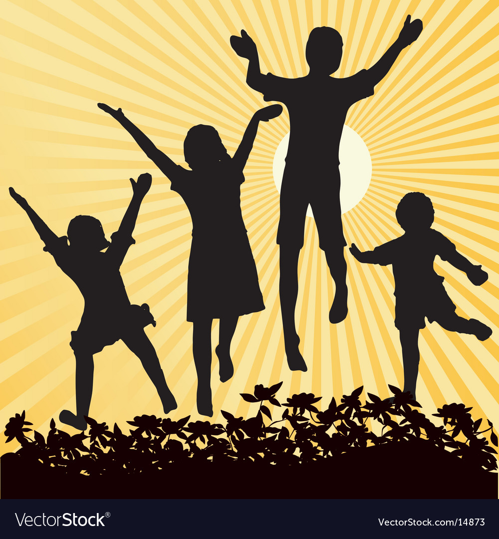 Kids sun vector image