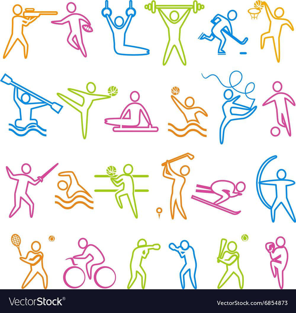 IconsSportA vector image