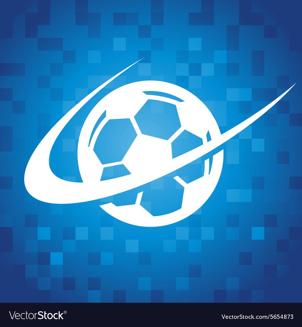 Swoosh Soccer Icon vector image