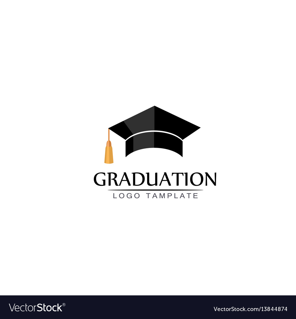 Graduation cap logo or icon isolated vector image