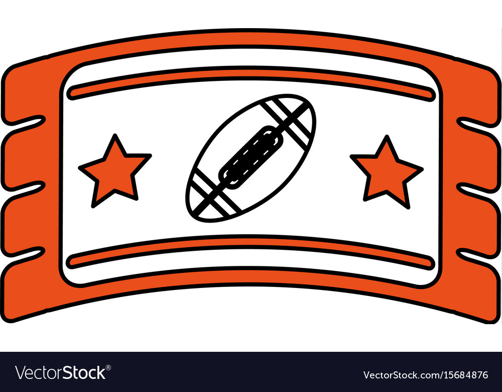 Football ticket vector image