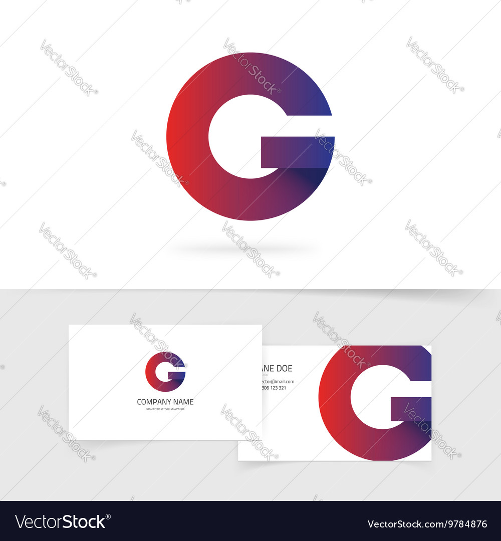 Letter G logo element abstract geometric vector image