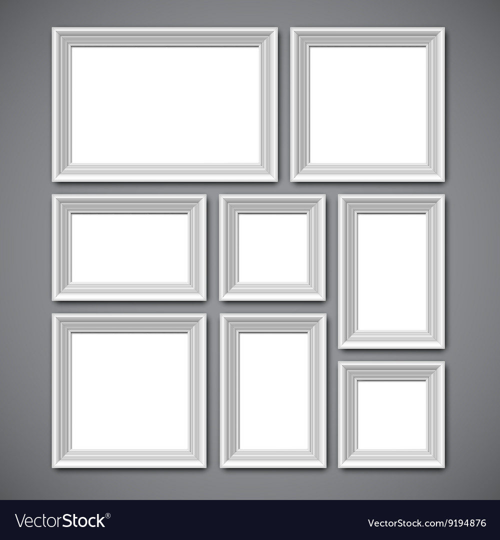 Picture Frames Collage Royalty Free Vector Image
