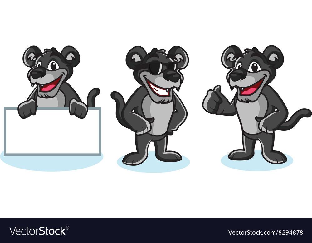 Panther Mascot pose vector image
