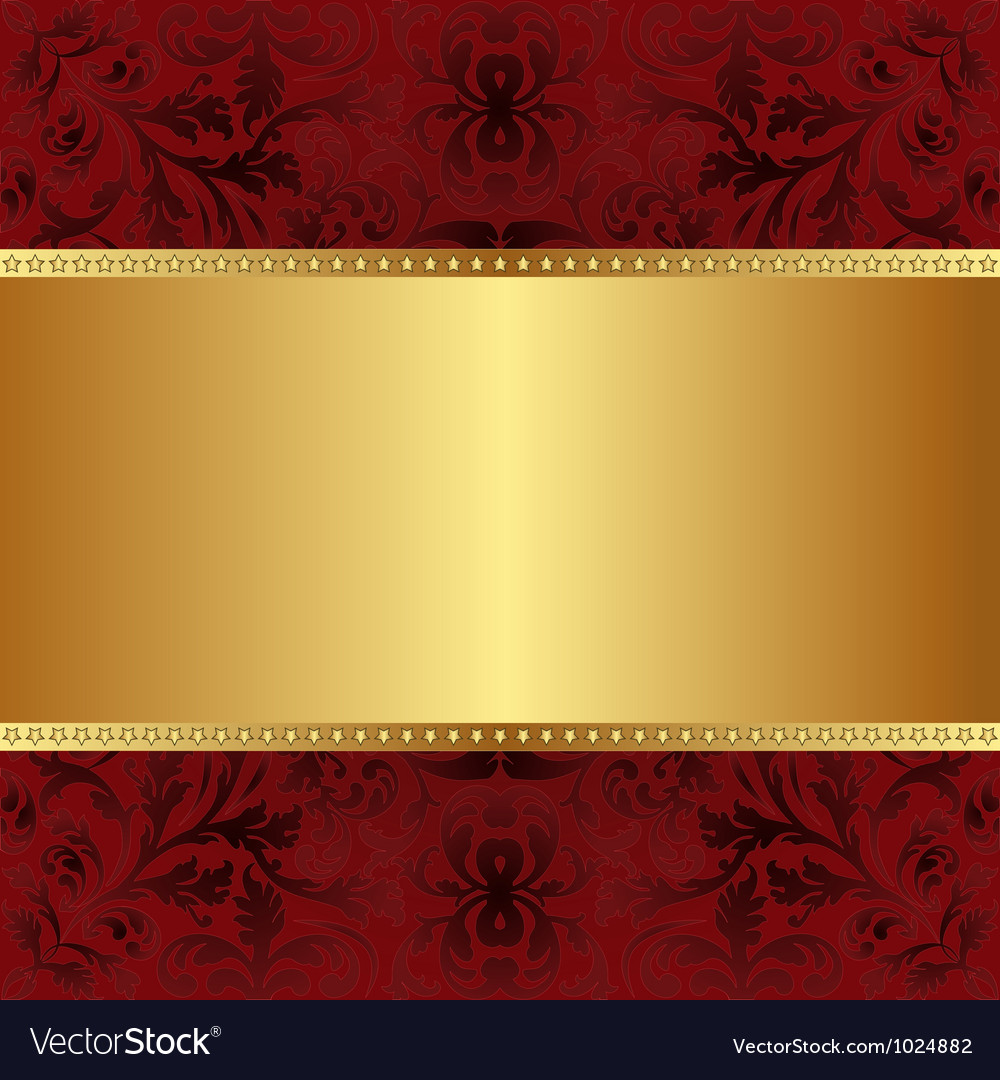 Red gold background Royalty Free Vector Image
