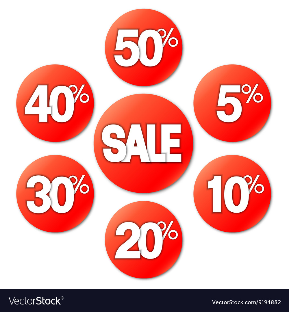 Red Sale Stickers vector image