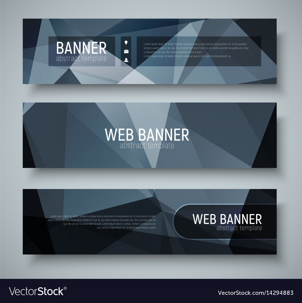 Template banners with transparent design elements vector image