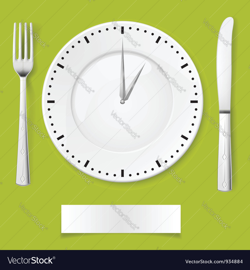 Dinner time vector image